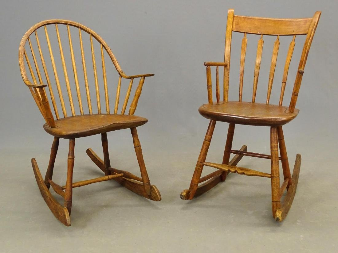 (2) 19th c. Windsor Rocking Chairs