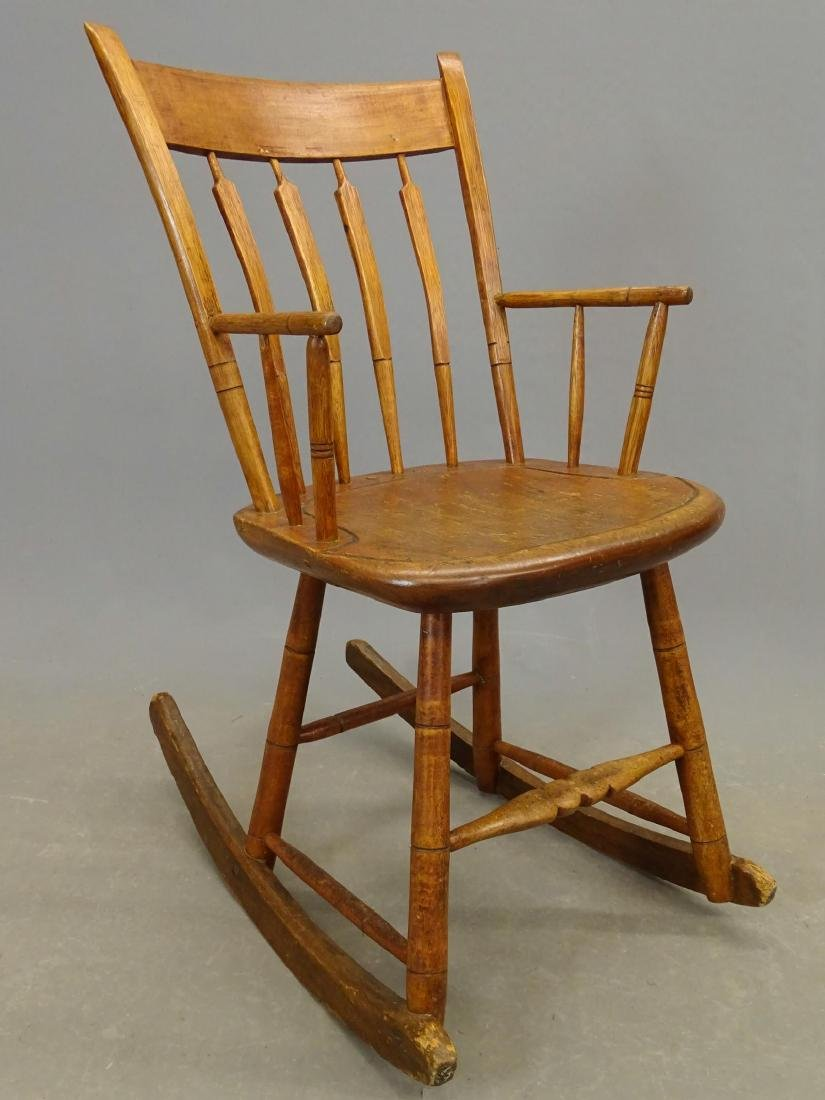 (2) 19th c. Windsor Rocking Chairs - 6