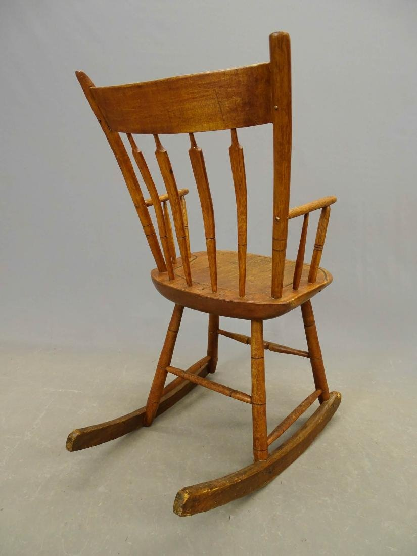 (2) 19th c. Windsor Rocking Chairs - 9