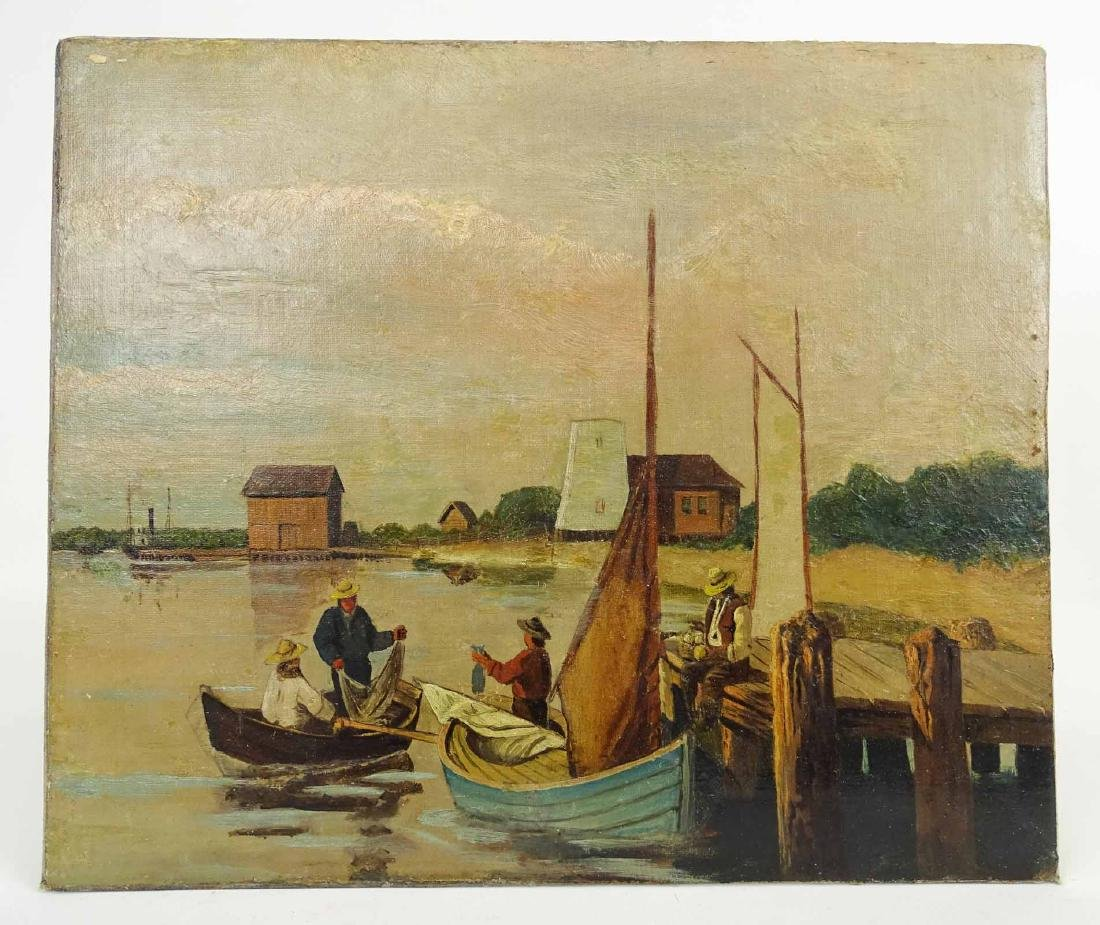 Continental School, Harbor Scene