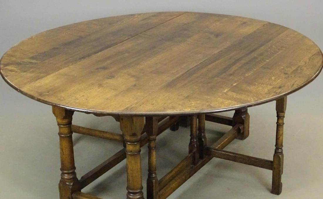 English Jacobean Style Dining Table - 3