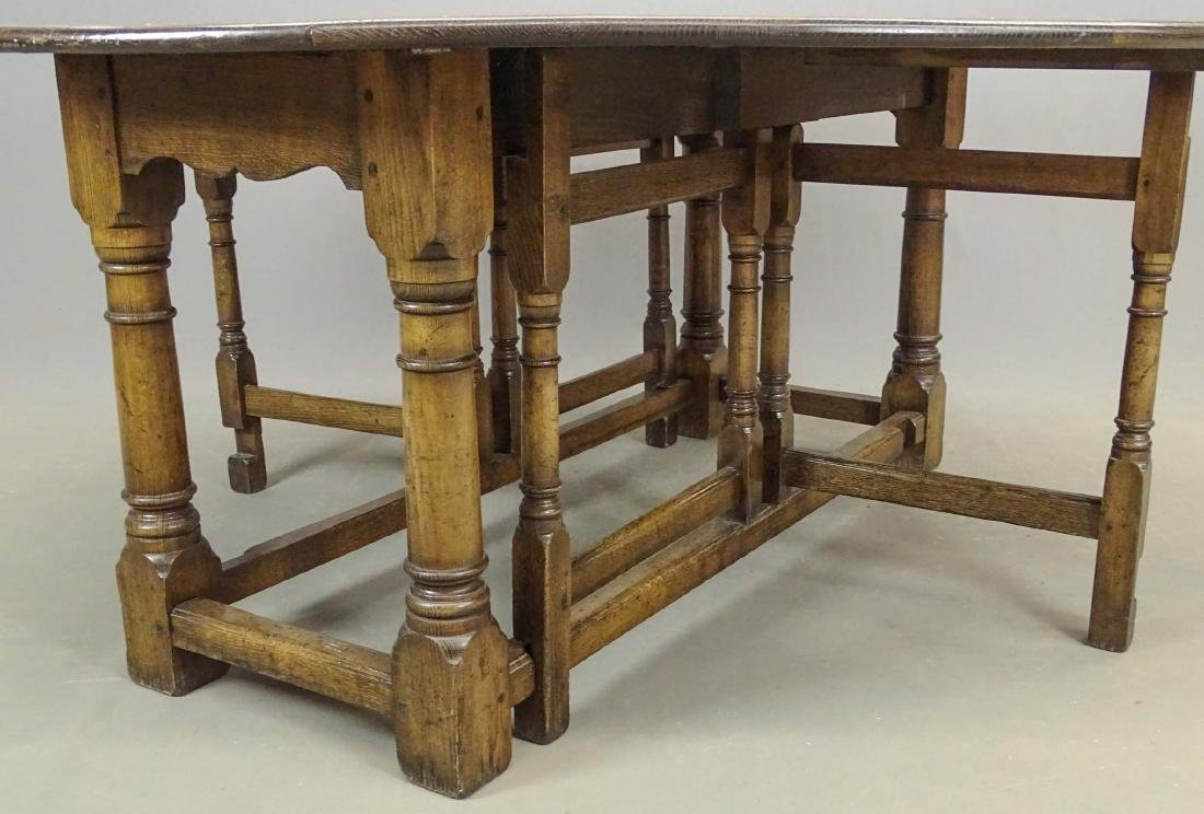 English Jacobean Style Dining Table - 4