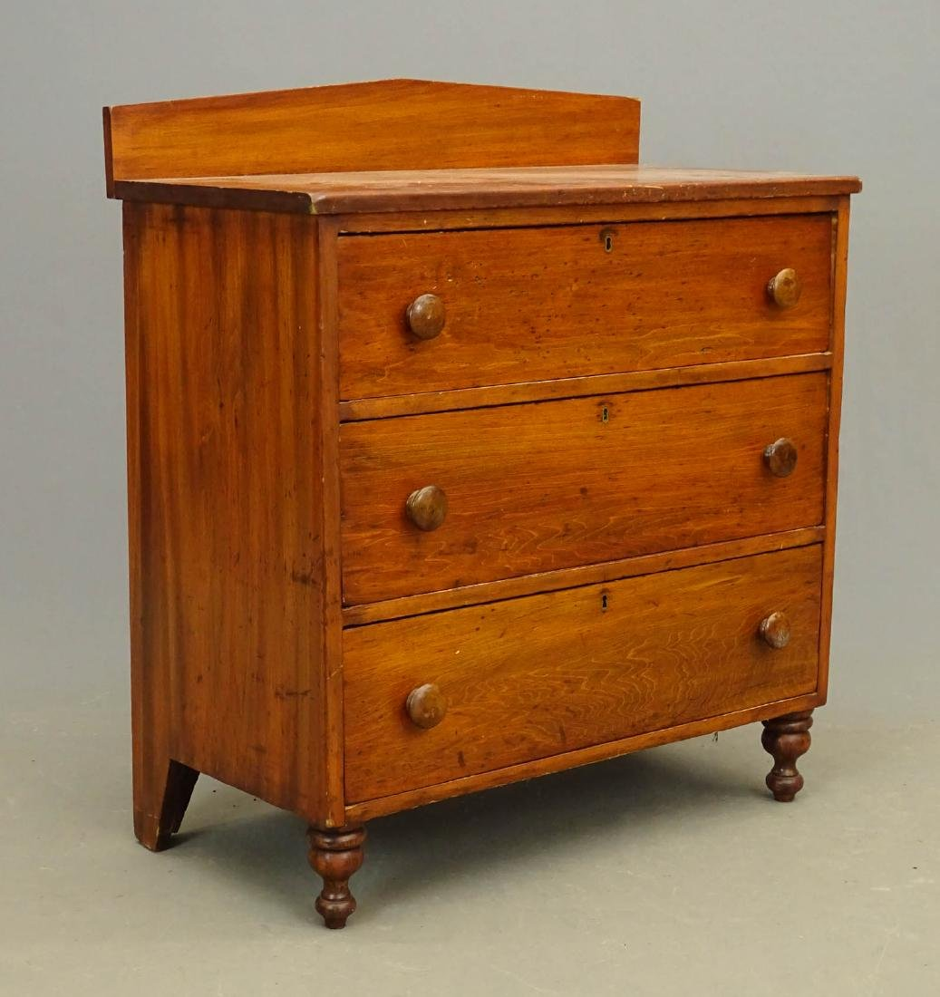 19th c. Pine Chest Of Drawers