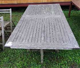 teak patio table - Antique Garden Furniture