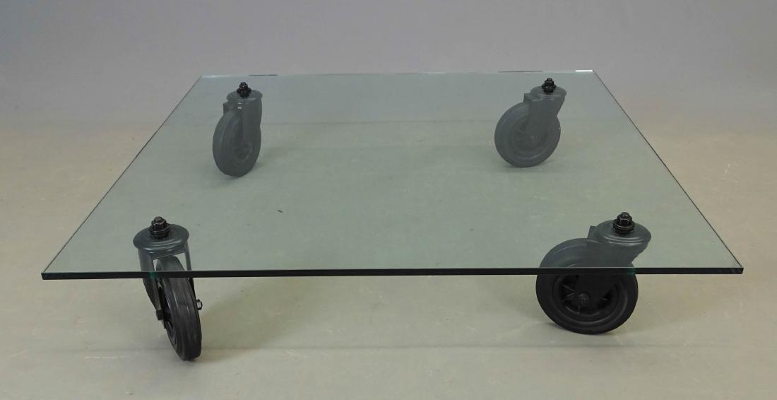 Glass Top Table, Gae Aulenti For Fontana Arte