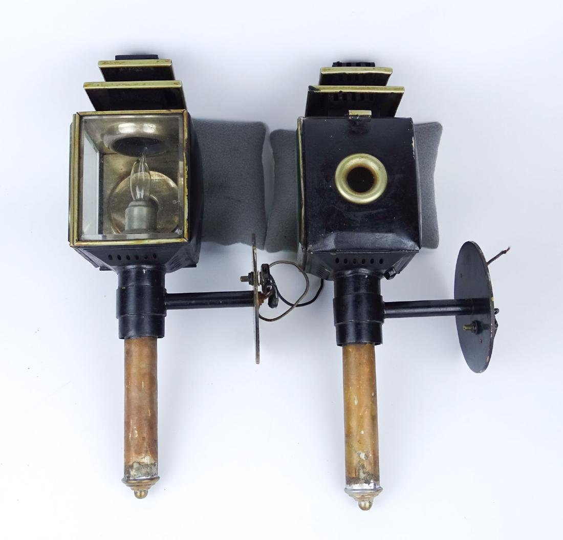 Pair Carriage Lamps - 4