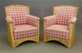 Pair Decorative Wicker Chairs