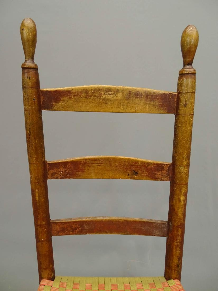 19th c. Shaker Side Chair - 3