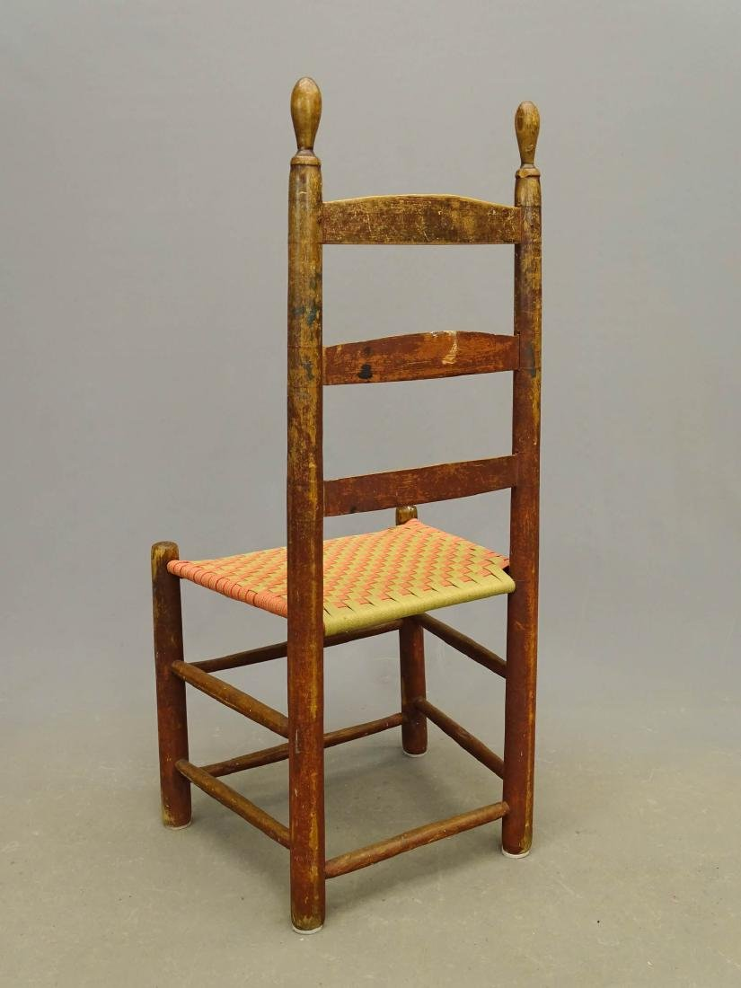 19th c. Shaker Side Chair - 4