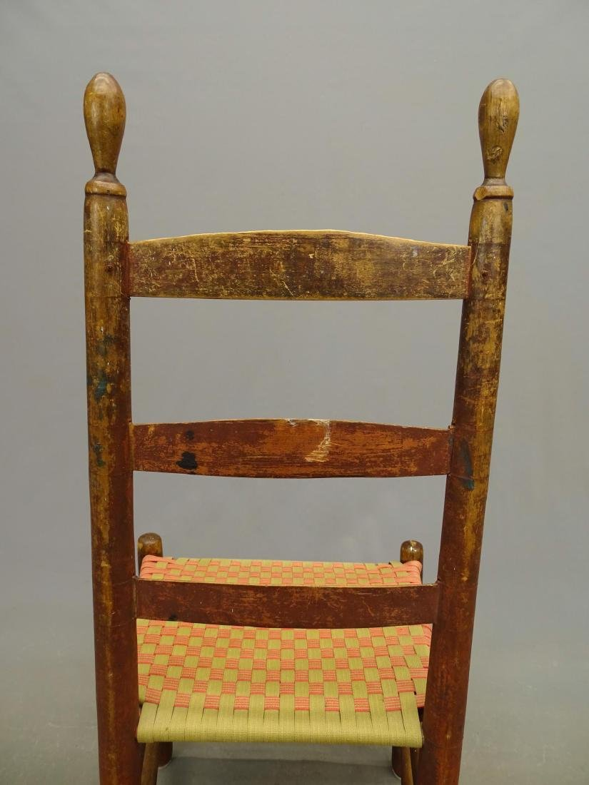 19th c. Shaker Side Chair - 5