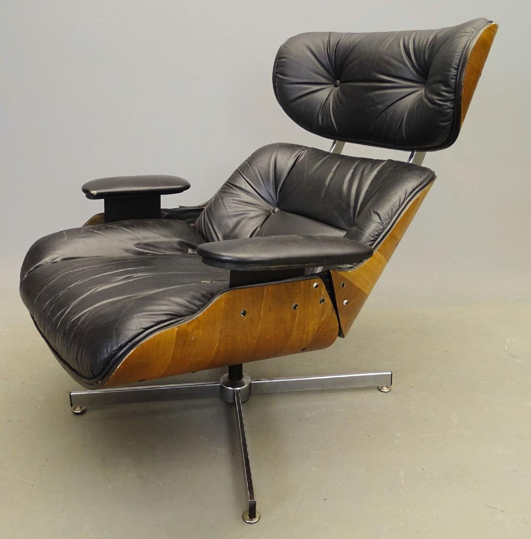 Eames Style Lounge Chair & Ottoman - 2
