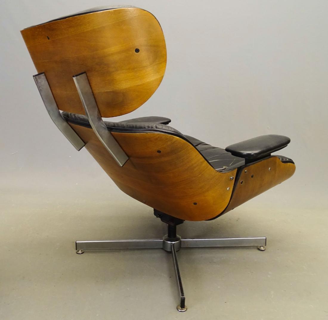 Eames Style Lounge Chair & Ottoman - 3