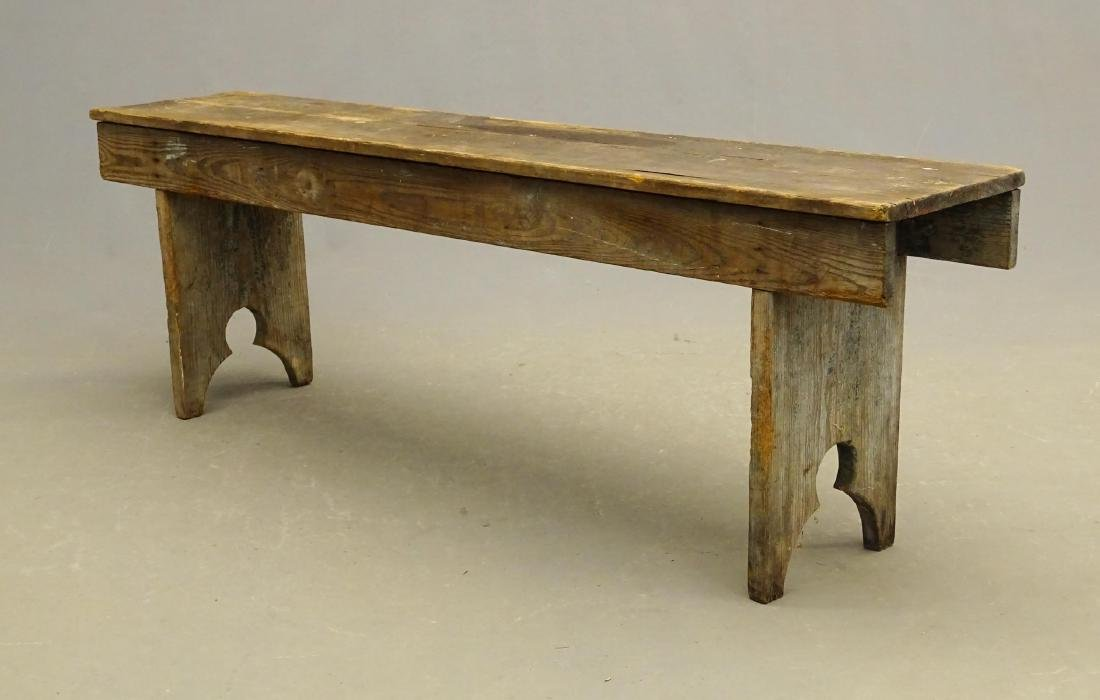 19th c. Bootjack Bench