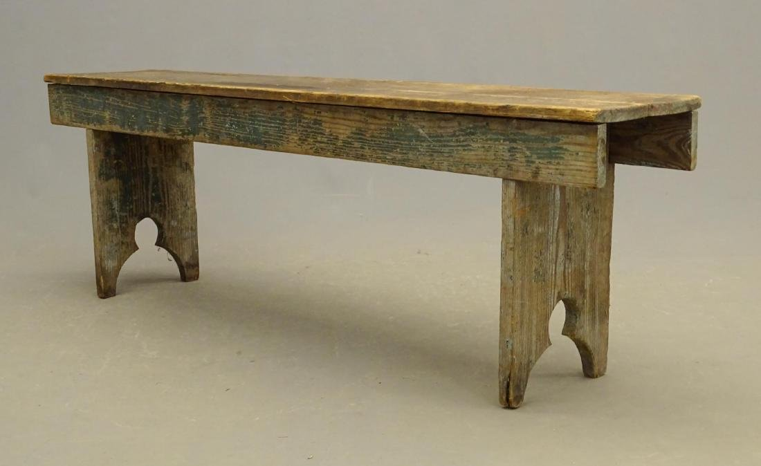 19th c. Bootjack Bench - 3