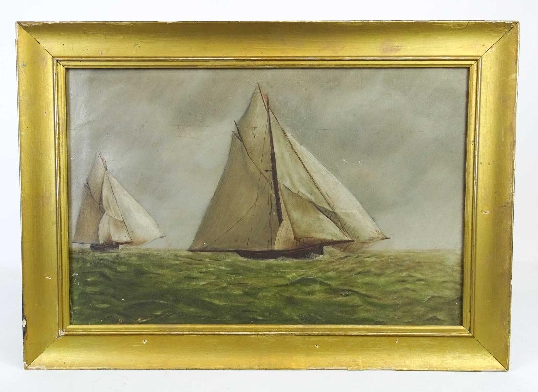 American School, 19th c. Seascape