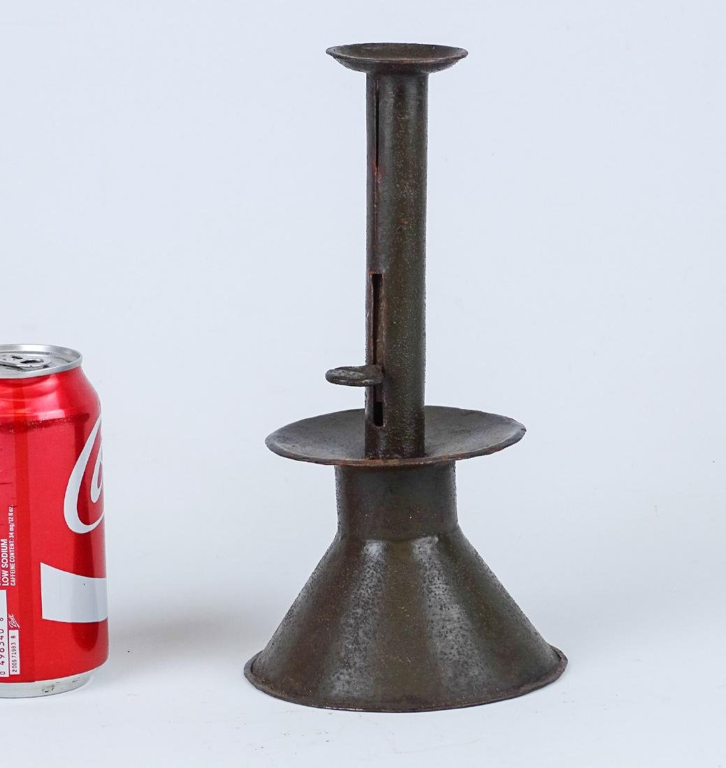 Sand Weighted Tin Candlestick