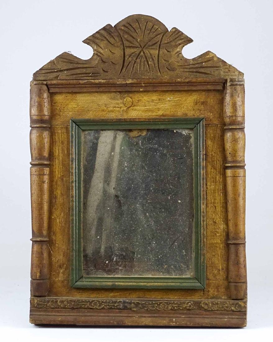 19th c. Carved Mirror