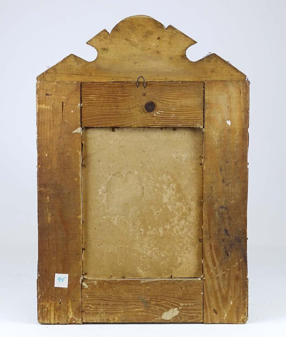 19th c. Carved Mirror - 2