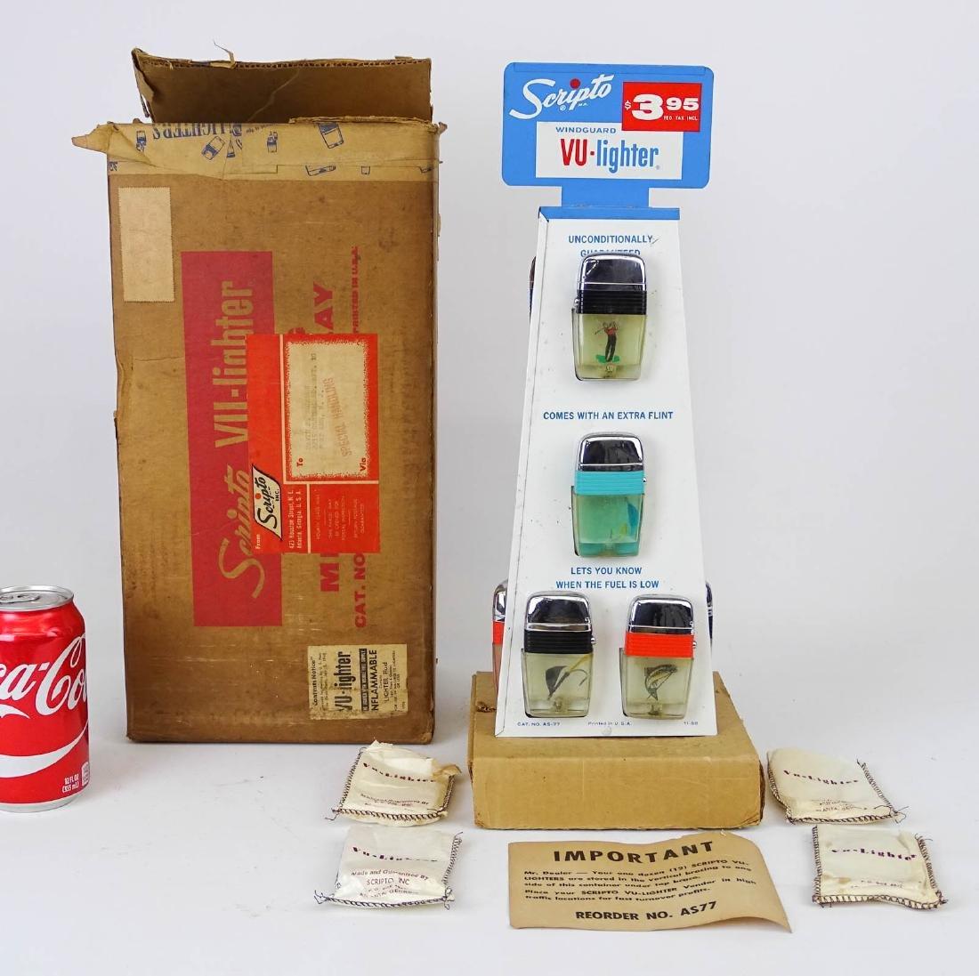 Vintage Scripto Lighter Display