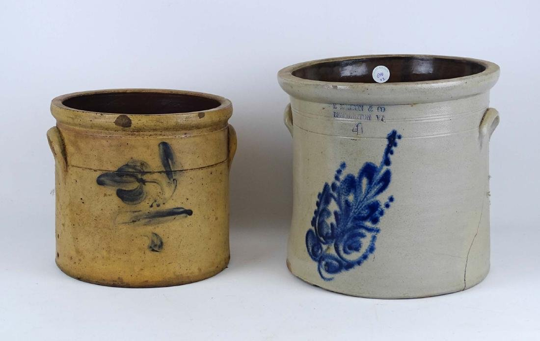 19th c. Stoneware Crocks