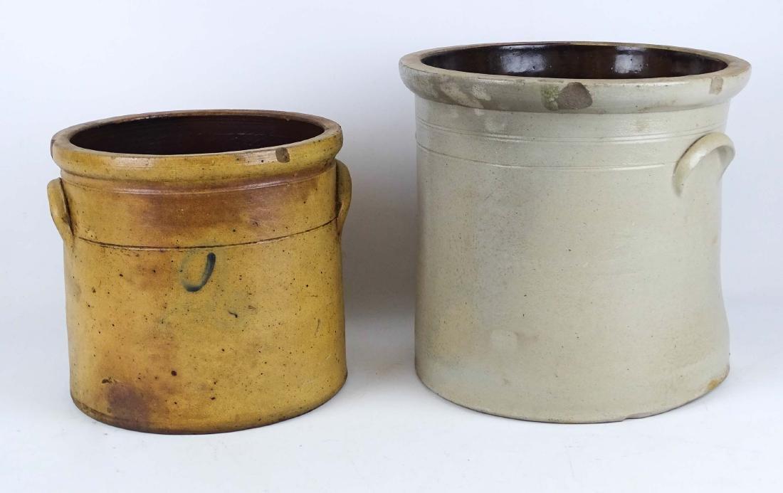 19th c. Stoneware Crocks - 2