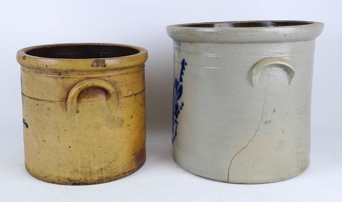 19th c. Stoneware Crocks - 3