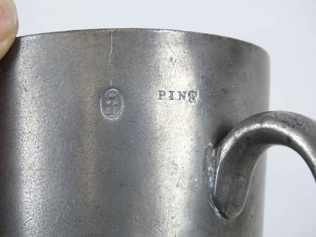 18th c. Candlestick & Pewter Cup - 6