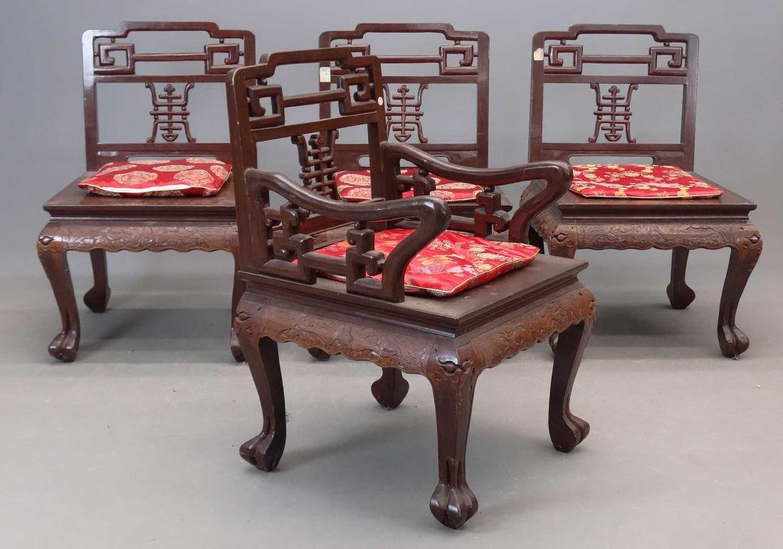Set Of (4) Chinese Chairs