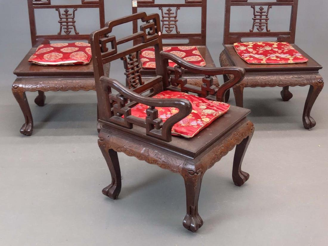 Set Of (4) Chinese Chairs - 2