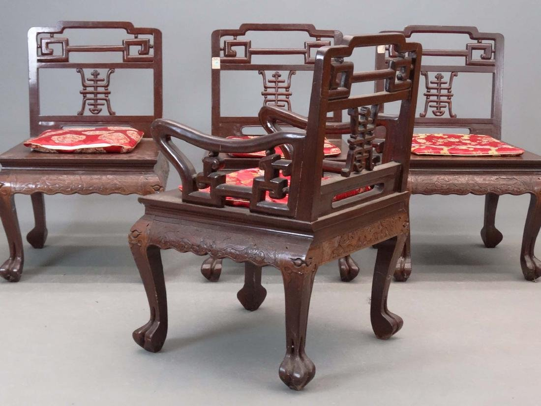 Set Of (4) Chinese Chairs - 3