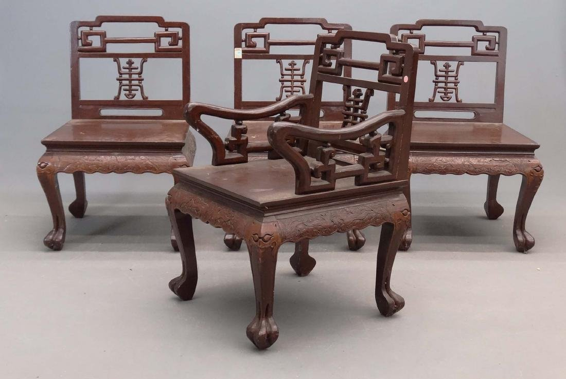 Set Of (4) Chinese Chairs - 4