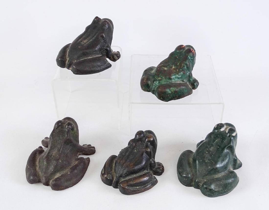 Cast Iron Frog Doorstops - 3
