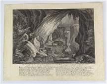 18th c. Ridinger Otter Engraving
