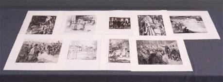 George Washintgon Vintage Print Set (9)
