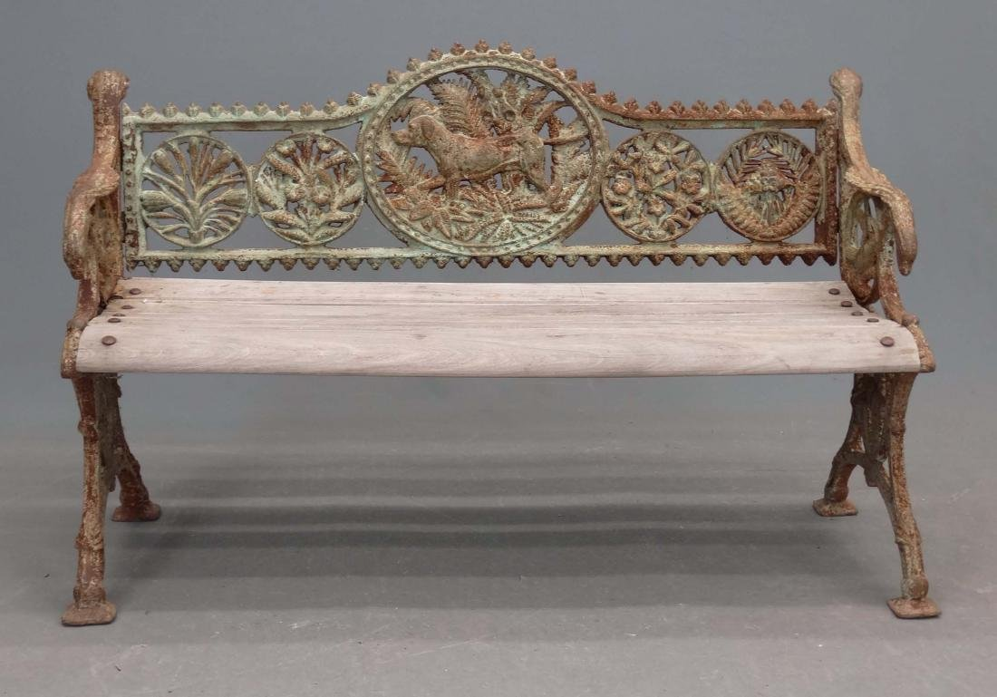 Cast Iron Garden Bench - 2