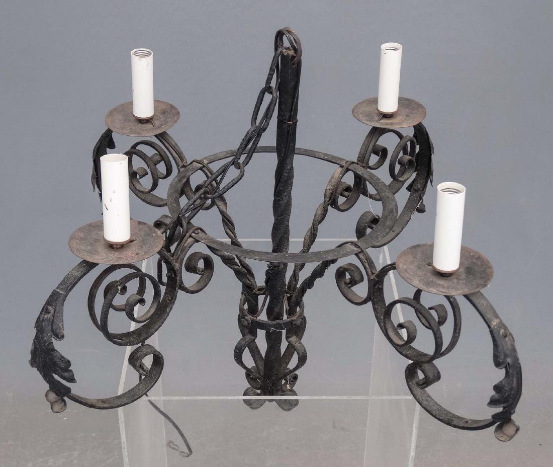 Wrought Iron Chandelier - 2