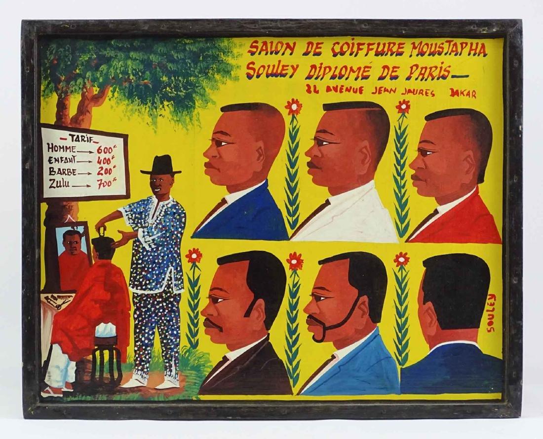 Haitian School Barber Shop Artwork
