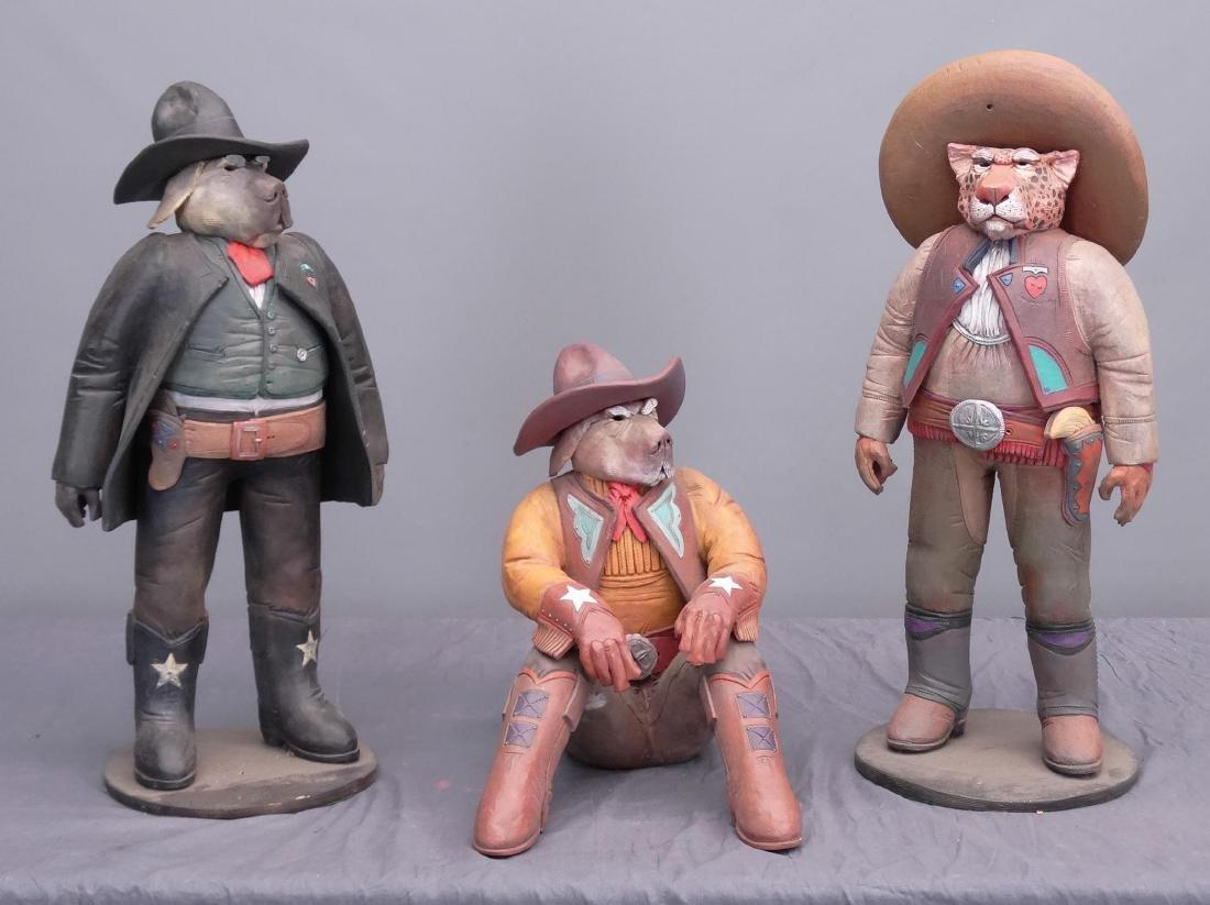 Pottery Cowboy Animal Figures