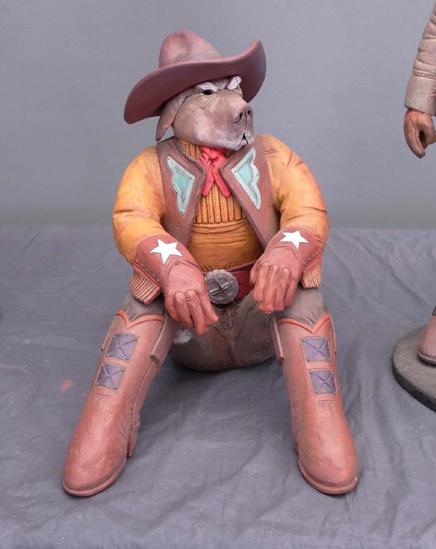 Pottery Cowboy Animal Figures - 5