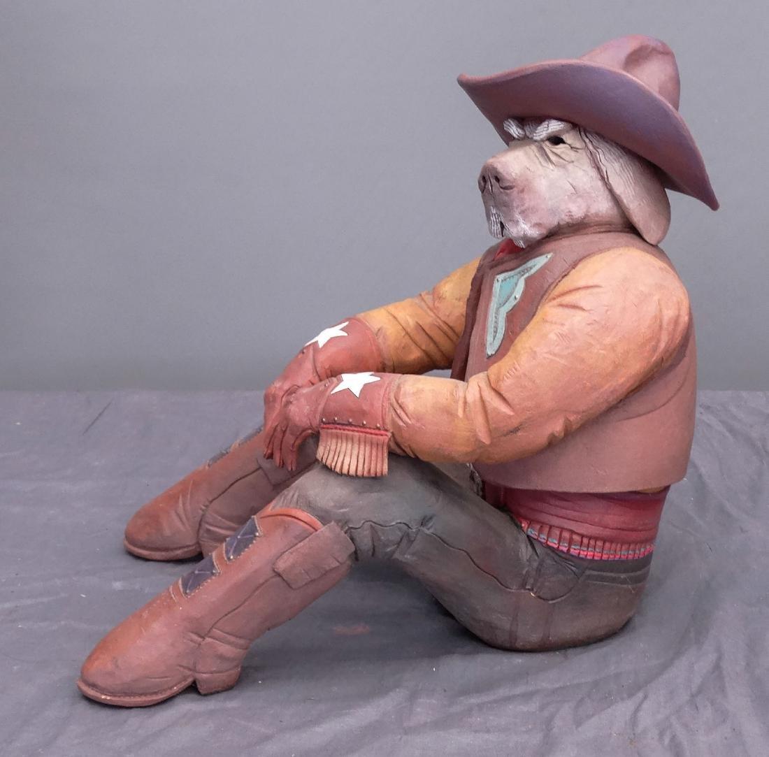 Pottery Cowboy Animal Figures - 6