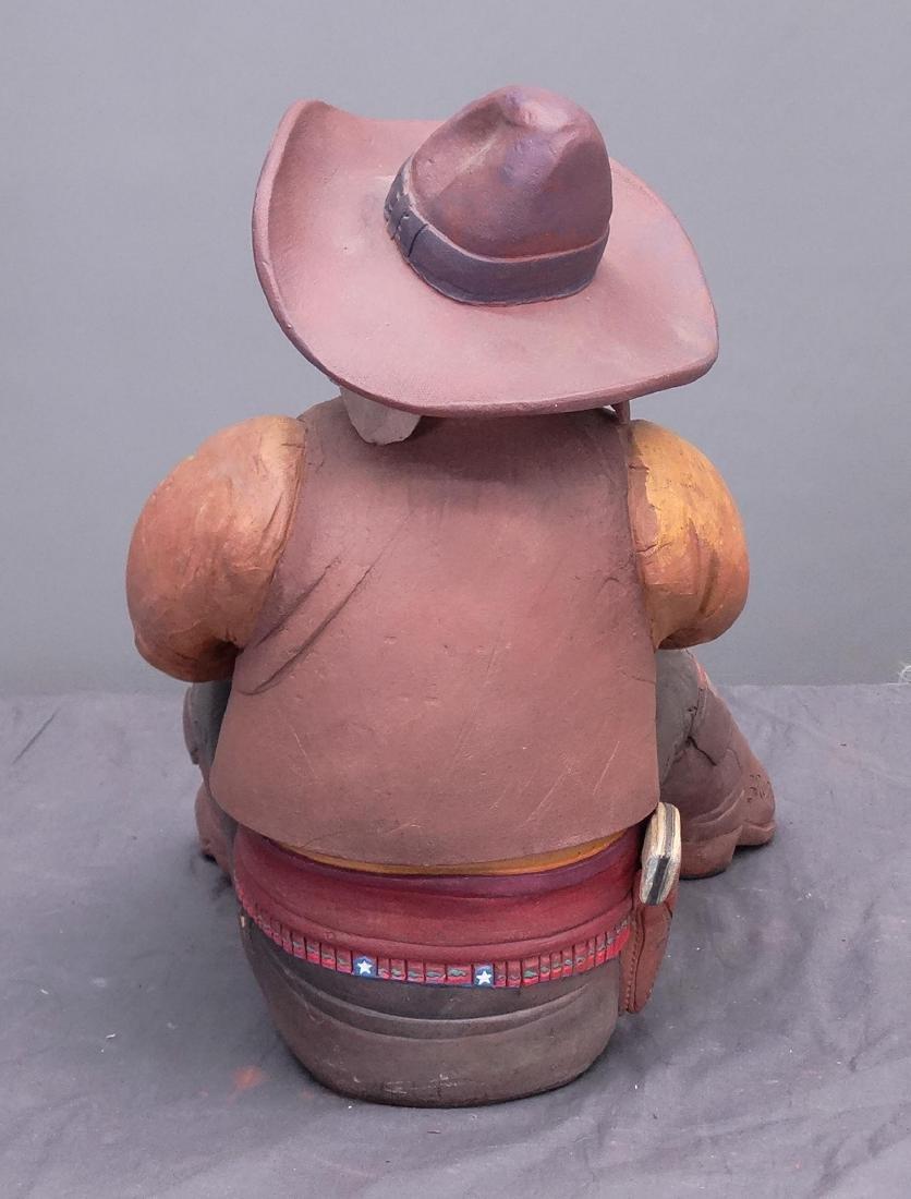 Pottery Cowboy Animal Figures - 7