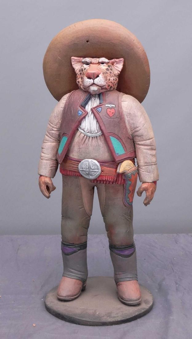 Pottery Cowboy Animal Figures - 8