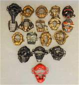 Collection Of Vintage Catchers Masks