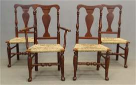 Set Of 4 Queen Anne Style Chairs