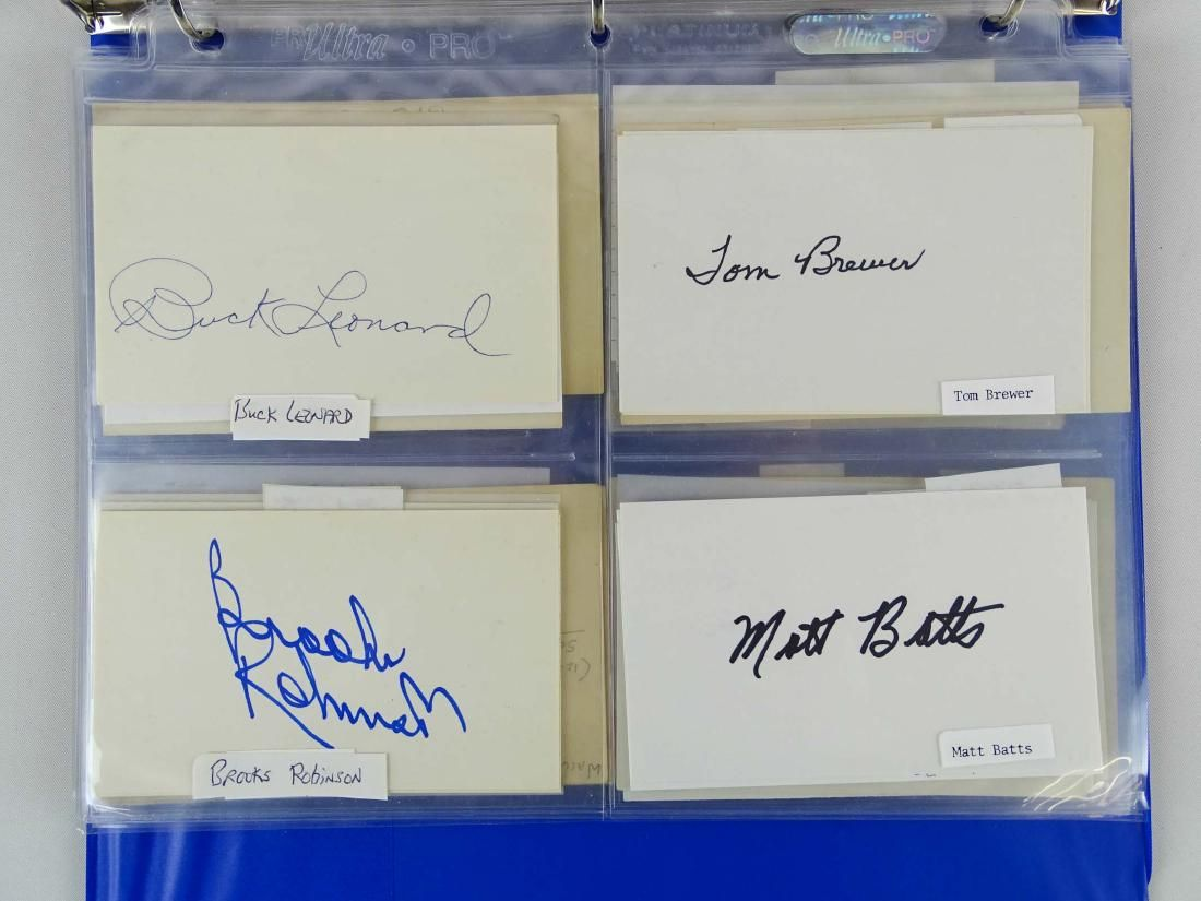 Autographed Baseball Index Cards
