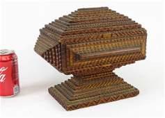 19th c Tramp Art Box