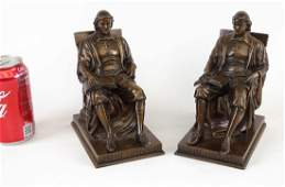 Pair Daniel C. French Bookends