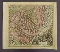 Antique Map Alps Central Europe