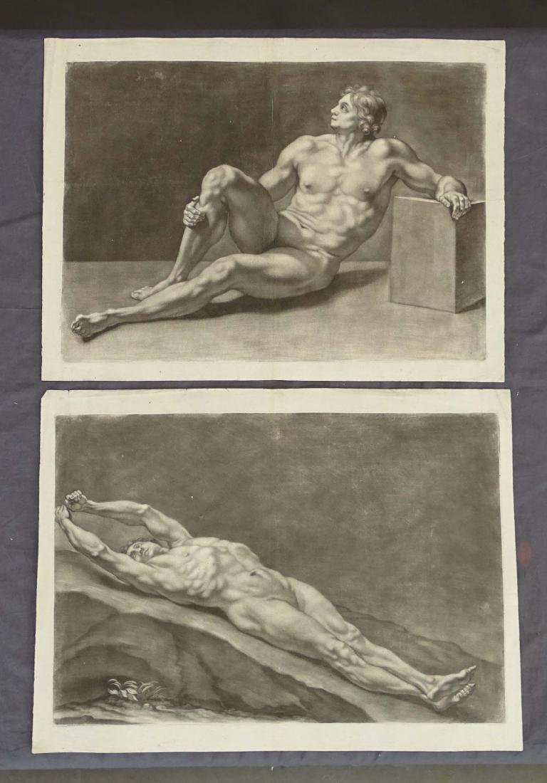 Academic Male Nude Antique Prints (2)