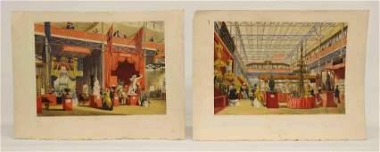 Pair 19th c Continental Prints